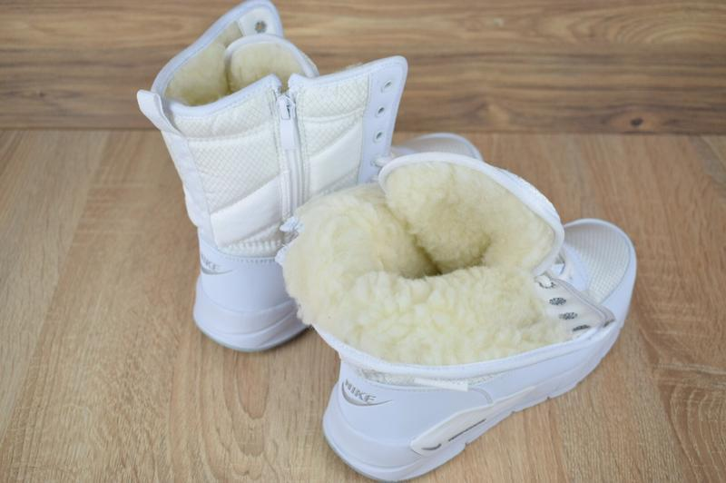 Шикарные женские сапоги ботинки дутики nike zoom сапоги белые ... - Фото 4