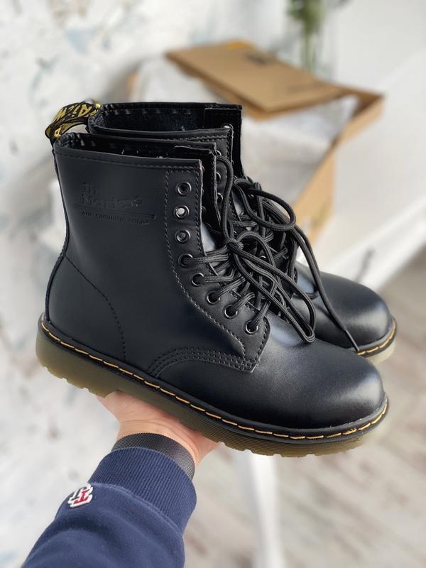 Шикарные женские ботинки dr. martens 1460 black😃(осень евро-зима)