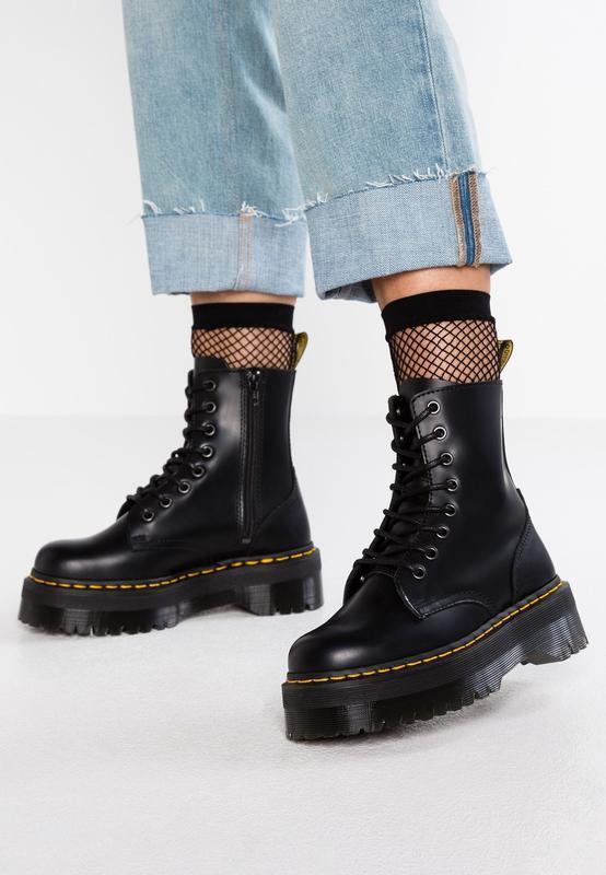 Шикарные женские ботинки dr. martens jadon чёрные😃(осень евро-...