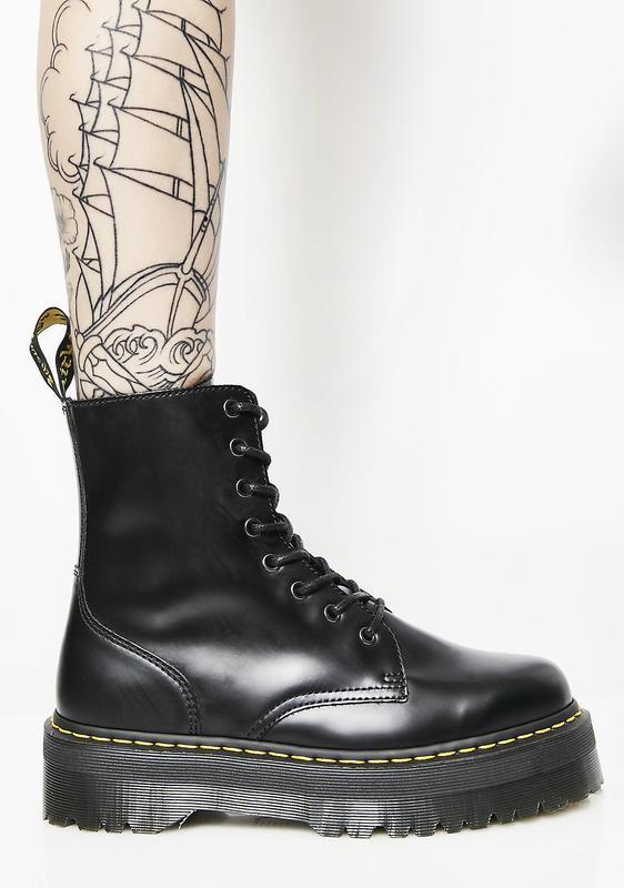 Шикарные женские ботинки dr. martens jadon чёрные😃(осень евро-... - Фото 3