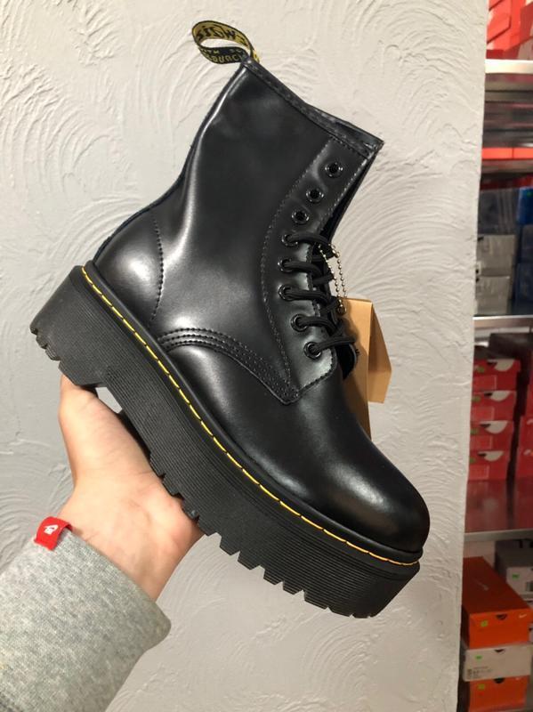 Шикарные женские ботинки dr. martens jadon чёрные😃(осень евро-... - Фото 4