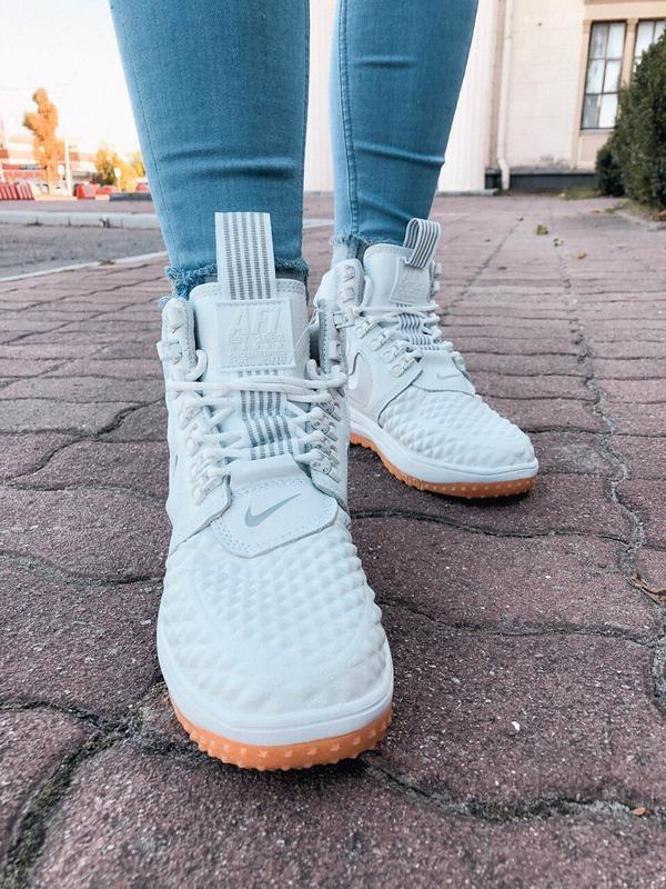 Шикарные женские кроссовки nike lunar force 1 duckboot white б... - Фото 4