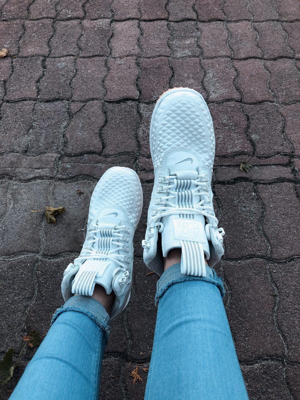 Шикарные женские кроссовки nike lunar force 1 duckboot white б... - Фото 5