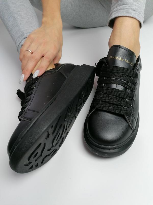 Шикарные женские кеды alexander mcqueen black чёрные 😃 (весна ... - Фото 3