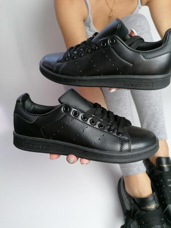 Шикарные мужские кроссовки adidas stan smith black чёрные 😃 (в...