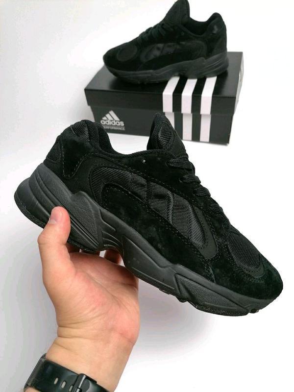 Шикарные мужские кроссовки adidas yung-1 black чёрные😃 (весна ...