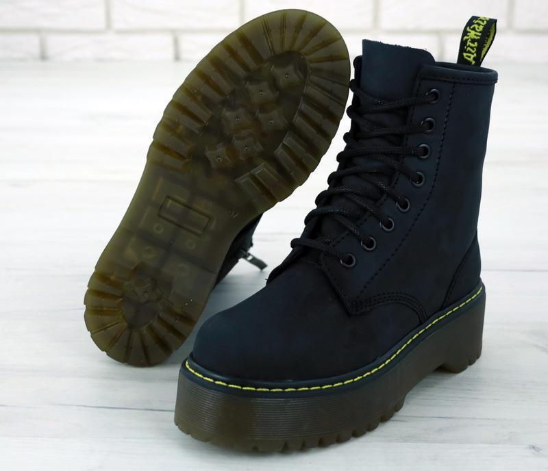 Шикарные женские ботинки dr. martens jadon black 😃(осень евро-...