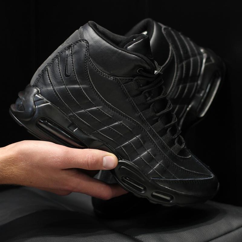 Шикарные мужские кроссовки ботинки nike air max 95 с мехом зим...