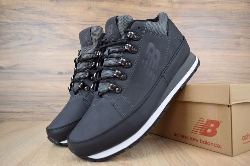 Шикарные мужские ботинки new balance 754 тёмно серые😃(зима)