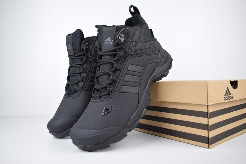 Шикарные мужские кроссовки ботинки adidas climaproof высокие ч... - Фото 2