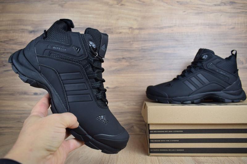 Шикарные мужские кроссовки ботинки adidas climaproof высокие ч... - Фото 3