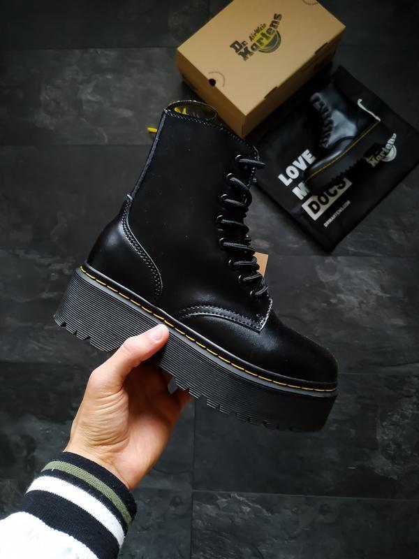Шикарные женские ботинки dr. martens jadon black чёрные😃(осень...