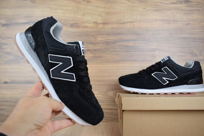 Шикарные мужские кроссовки new balance 574 черные 😃 (весна лет... - Фото 3
