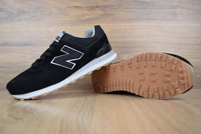 Шикарные мужские кроссовки new balance 574 черные 😃 (весна лет... - Фото 4