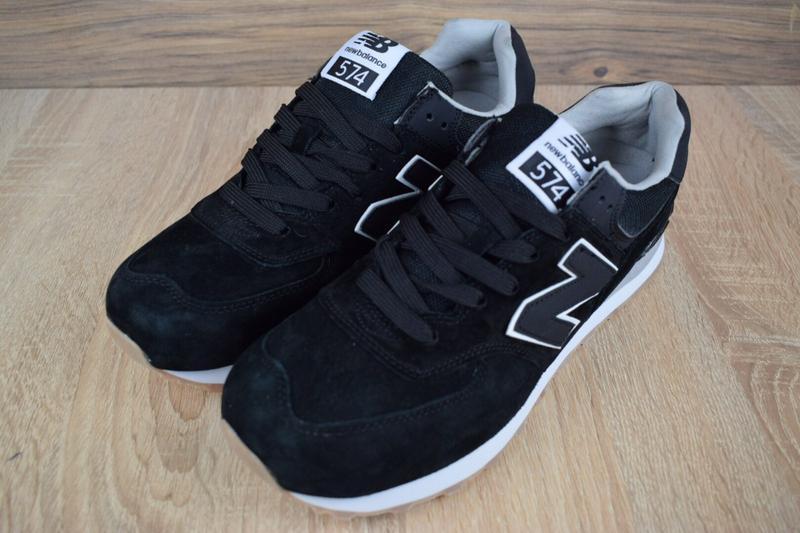 Шикарные мужские кроссовки new balance 574 черные 😃 (весна лет... - Фото 5