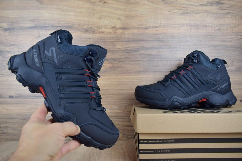 Шикарные мужские кроссовки ботинки adidas swift terrex темно с... - Фото 2