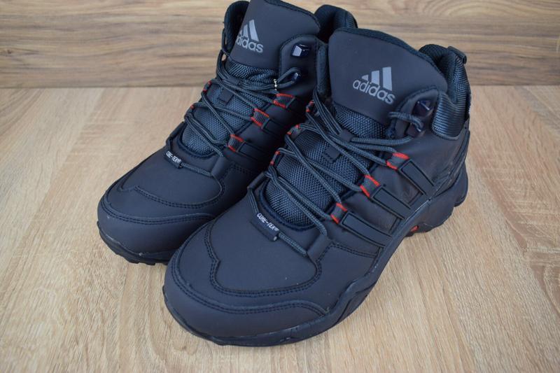 Шикарные мужские кроссовки ботинки adidas swift terrex темно с... - Фото 4