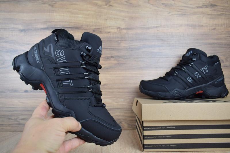 Шикарные мужские кроссовки ботинки adidas swift terrex черные😃... - Фото 2