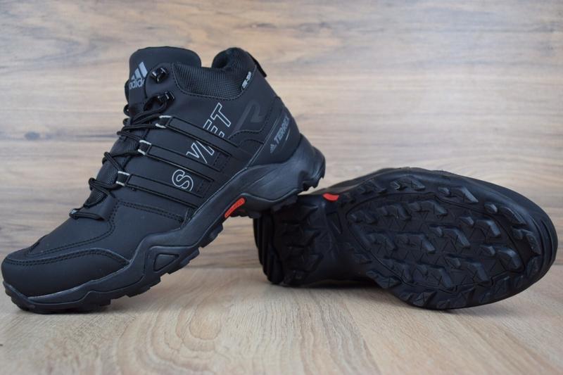 Шикарные мужские кроссовки ботинки adidas swift terrex черные😃... - Фото 3