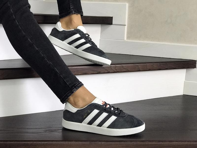 Шикарные женские кроссовки adidas gazelle bordo серые 😃 (весна...