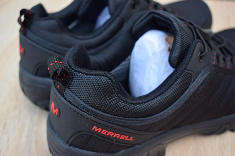 Шикарные лёгкие термо полуботинки merrell vibram черные с оран... - Фото 7