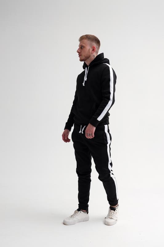 Шикарный мужской спортивный костюм на зиму с начесом трехнитка...