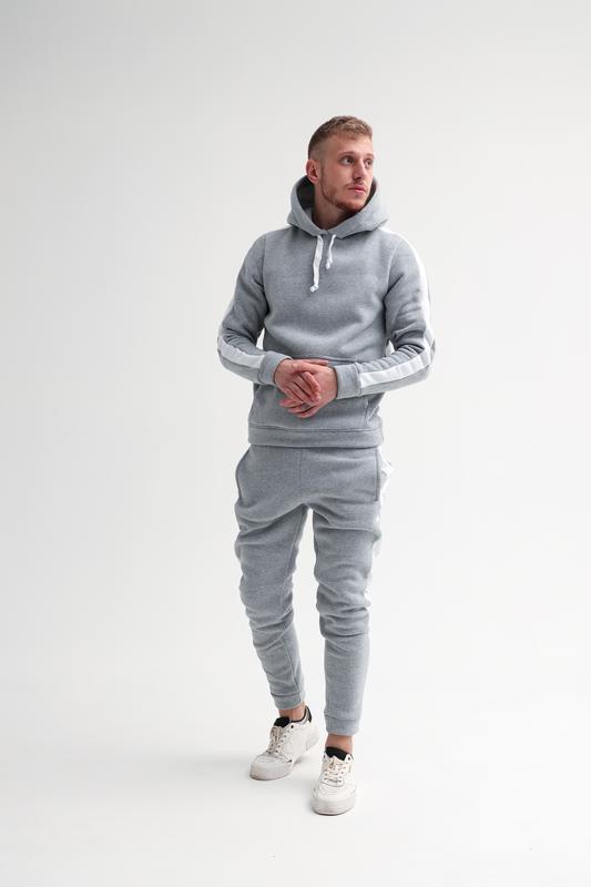 Шикарный мужской спортивный костюм на зиму с начесом трехнитка... - Фото 2