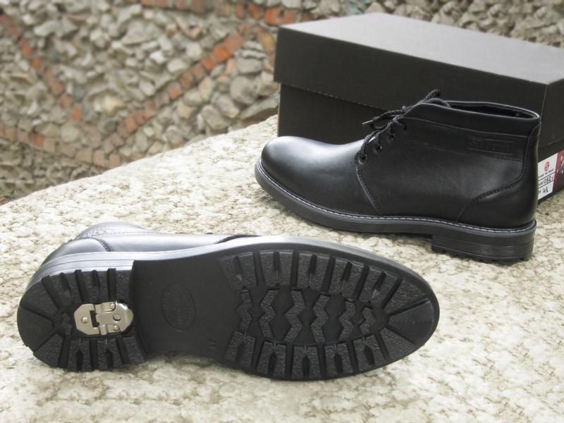 Шикарные мужские ботинки сапоги дезерты чёрные кожанные зимние... - Фото 2