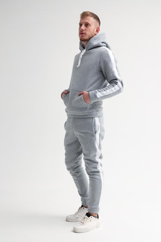 Шикарный мужской спортивный костюм на зиму с начесом трехнитка... - Фото 4