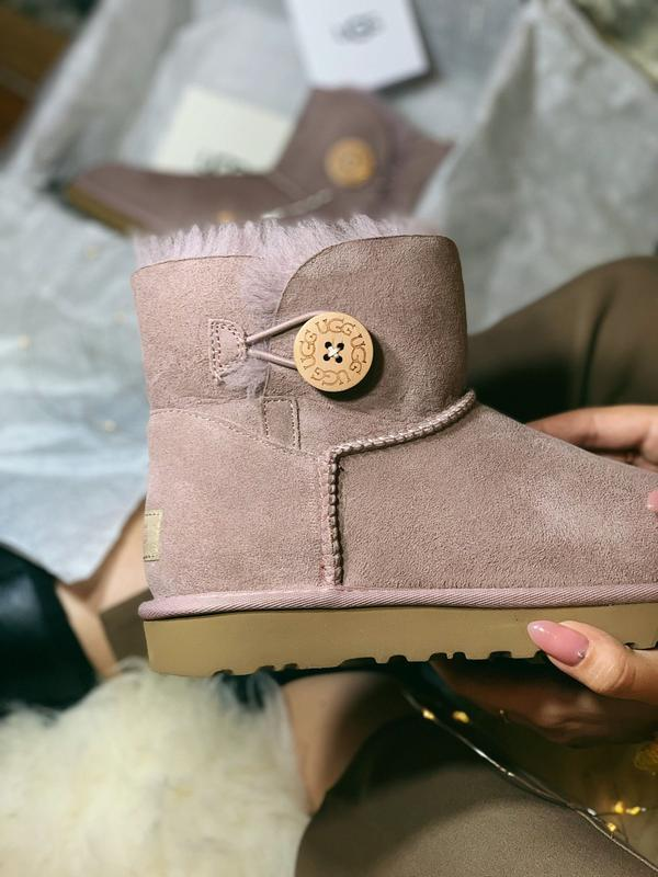 Шикарные женские сапоги ботинки ugg mini bailey bow pink розов...
