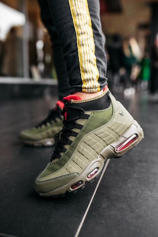 Шикарные мужские ботинки nike air max 95 sneakerboot khaki 😃(о...