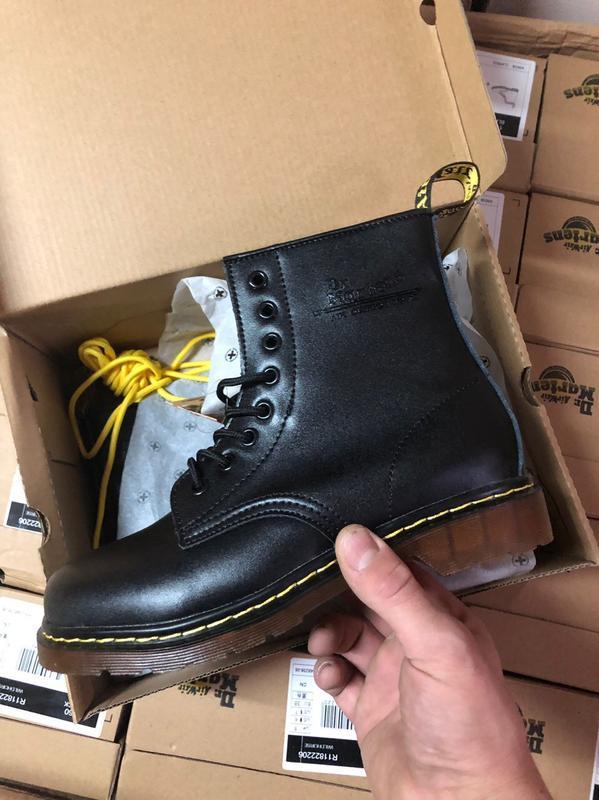Шикарные женские ботинки dr. martens 1460 black чёрные 😃(осень...