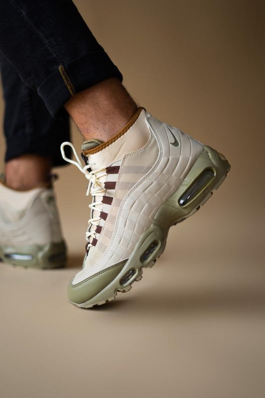 Шикарные мужские ботинки nike air max 95 sneakerboots beige 😃(...