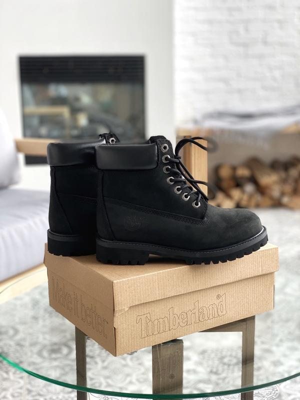 Шикарные мужские ботинки timberland 6 inch premium black термо... - Фото 2