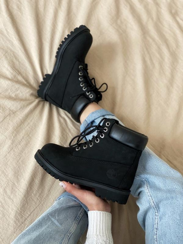 Шикарные мужские ботинки timberland 6 inch premium black термо... - Фото 3