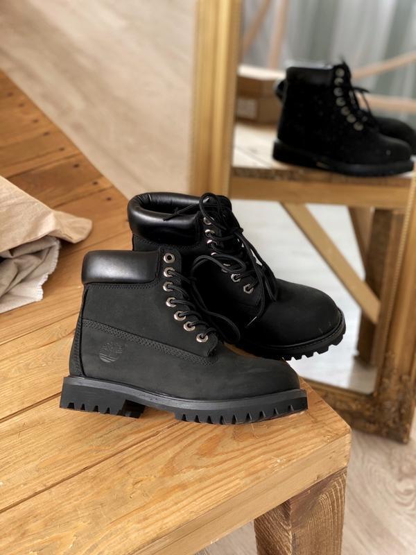 Шикарные мужские ботинки timberland 6 inch premium black термо... - Фото 4