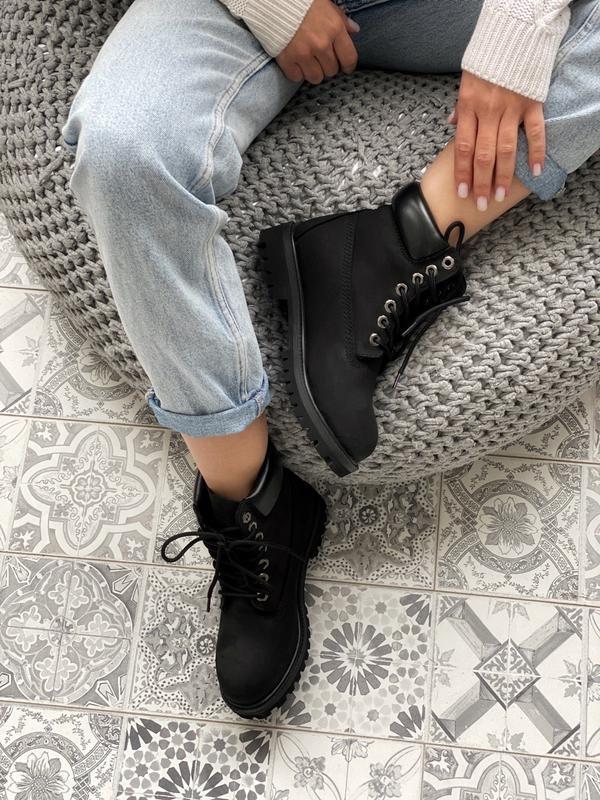 Шикарные мужские ботинки timberland 6 inch premium black термо... - Фото 5