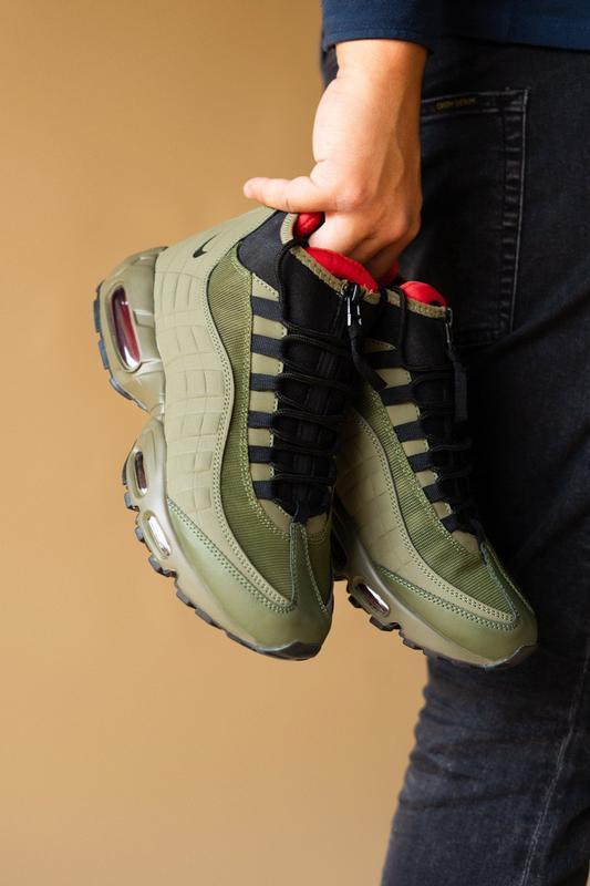 Шикарные мужские ботинки nike air max 95 sneakerboots khaki 😃(... - Фото 2