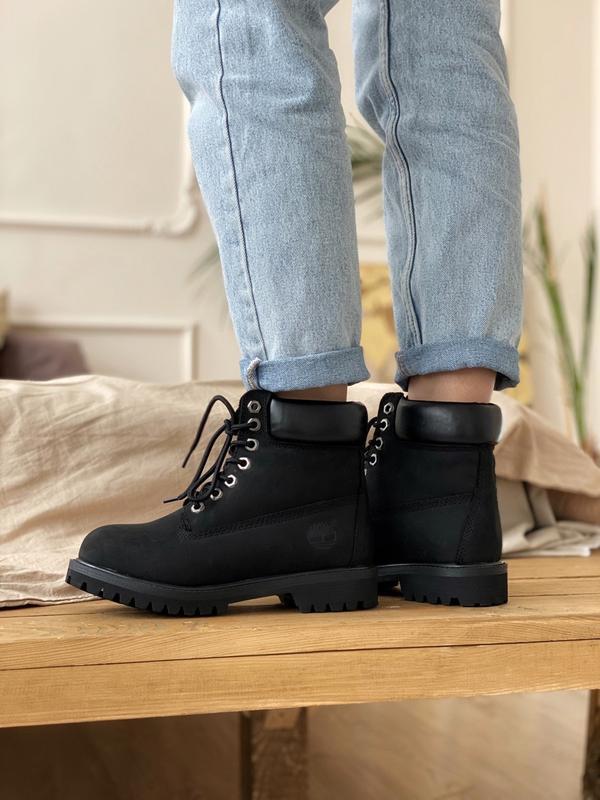 Шикарные мужские ботинки timberland 6 inch premium black термо... - Фото 6