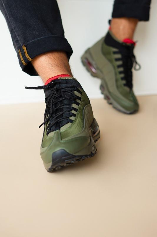 Шикарные мужские ботинки nike air max 95 sneakerboots khaki 😃(... - Фото 3