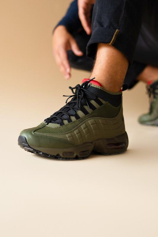 Шикарные мужские ботинки nike air max 95 sneakerboots khaki 😃(... - Фото 4
