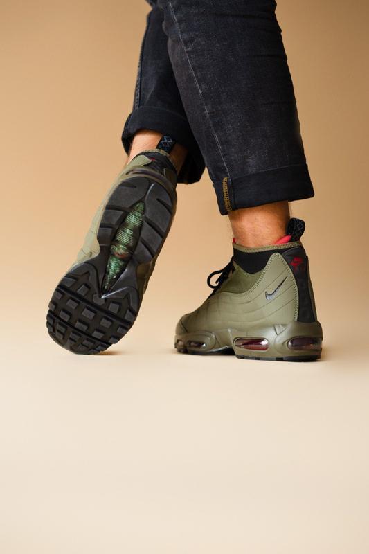 Шикарные мужские ботинки nike air max 95 sneakerboots khaki 😃(... - Фото 5