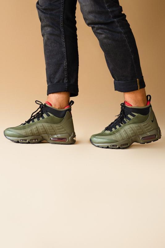 Шикарные мужские ботинки nike air max 95 sneakerboots khaki 😃(... - Фото 7