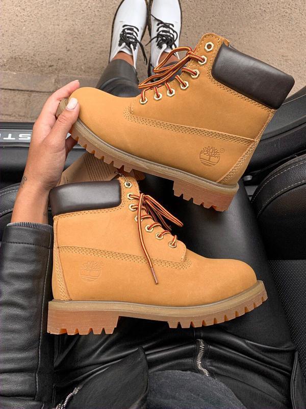 Шикарные женские ботинки timberland 6 inch premium ginger терм... - Фото 3