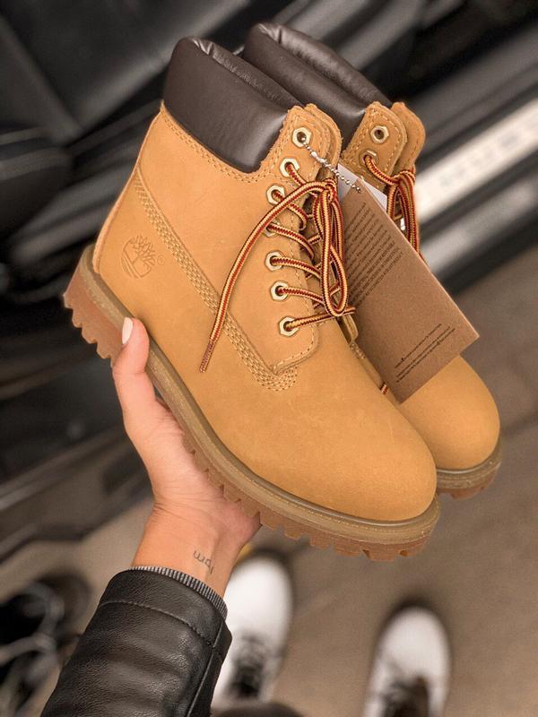 Шикарные женские ботинки timberland 6 inch premium ginger терм... - Фото 5