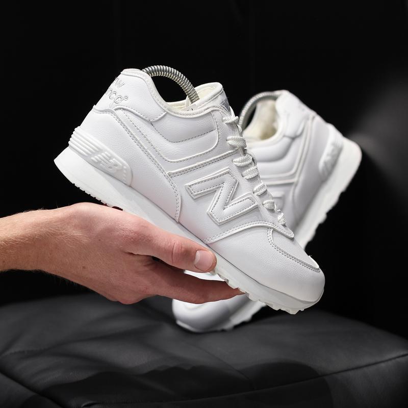 Шикарные женские кроссовки new balance 574 зимние с мехом😃(зима)