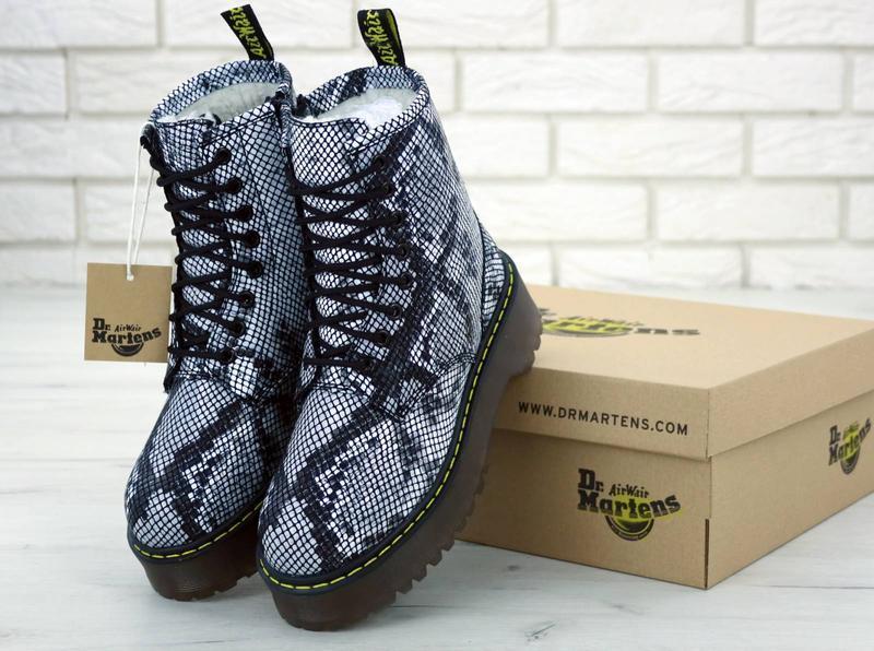 Шикарные женские ботинки dr. martens jadon с мехом зимние😃(зима)
