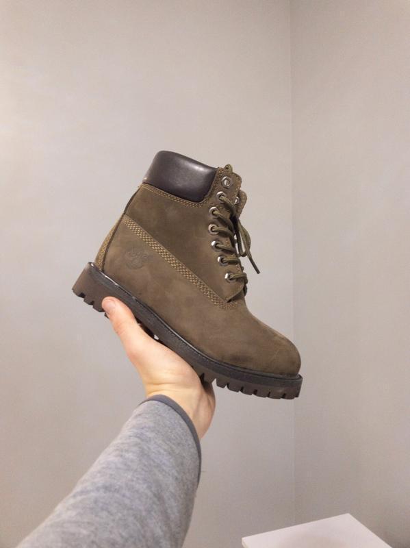 Шикарные женские ботинки timberland коричневые зимние😃(зима)