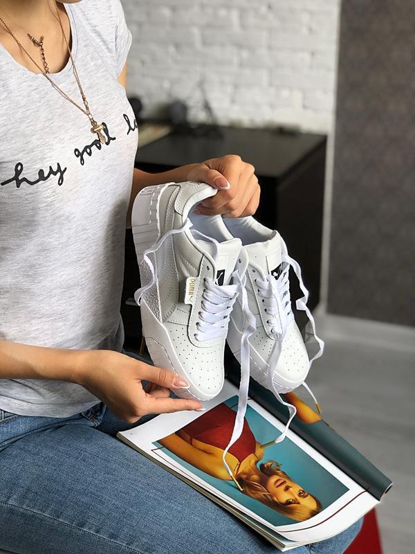 Шикарные женские кроссовки puma cali white белые 😃 (весна лето... - Фото 4