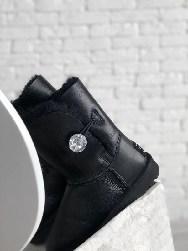 Шикарные женские сапоги угги ugg bailey button black чёрные😃 {... - Фото 4